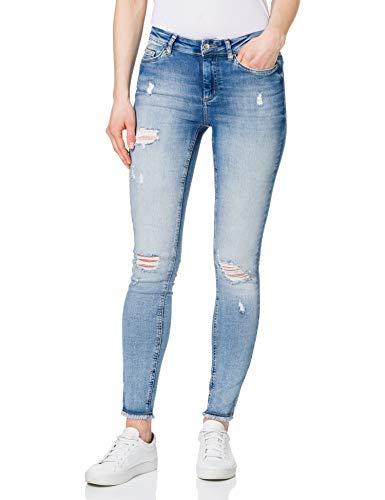 Only ONLBLUSH Life Mid SK RW AK DT REA213NOOS Jeans, Light Blue Denim, L/32 para Mujer