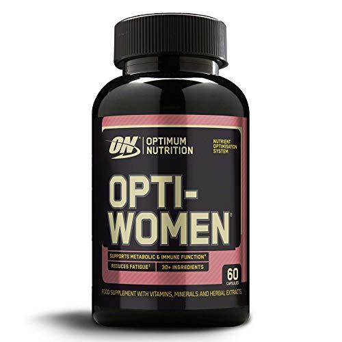 Optimum Nutrition Opti-Women, Suplemento Multivitamínico, Multivitaminas y Minerales para Mujeres con Vitamina D, Vitamina C, Magnesio y Acido Folico, Sin Sabor, 30 Porciones, 60 Cápsulas