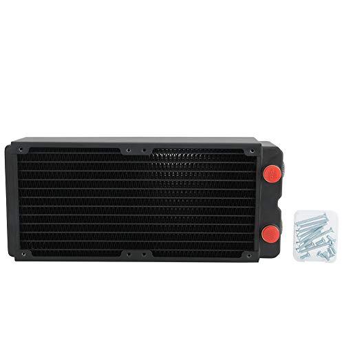 Radiador para computadora, accesorio de refrigeración por agua para computadora, radiador de cobre con disipador de calor de 3 capas de 65 mm, puerto G1 / 4, fácil instalación...