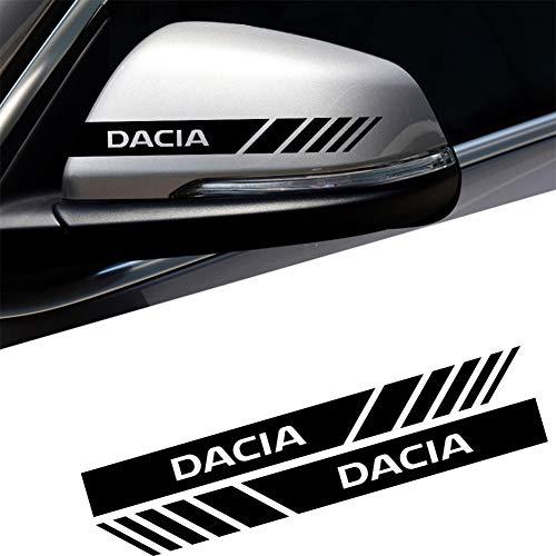 SXRKRZLB 2 Uds Impermeable Pegatina De Espejo Retrovisor De Coche para Renault Duster Megane Logan Dacia Captur Clio Accesorios De Estilo De Coche