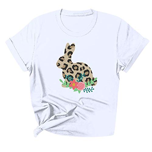 Check Out This FDelinK Womens O Neck Fun Happy Graphic Tees Summer Cute Letter Printed T-Shirts(Whit...