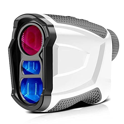 FXQIN Telemetro da Golf 6X 660 Iarde con compensazione Pendenza, Misurazione Distanza/Angolo/velocità di Blocco dell'asta della Bandiera per Il Golf, telemetrici da Caccia