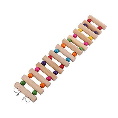 3 Größen Haustier Hängenden Holz Leiter Hamster Treppen Hängebrücke Schaukel Käfig Dekoration Spielzeug für Vogel Hamster Nagetier(L)