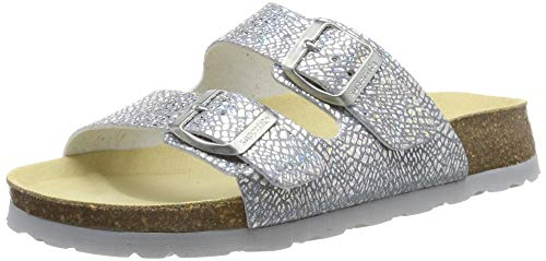 Superfit Mädchen Fussbettpantoffel_5-00119-90 Pantoffeln, Silber (Silber Metallic 95), 32 EU