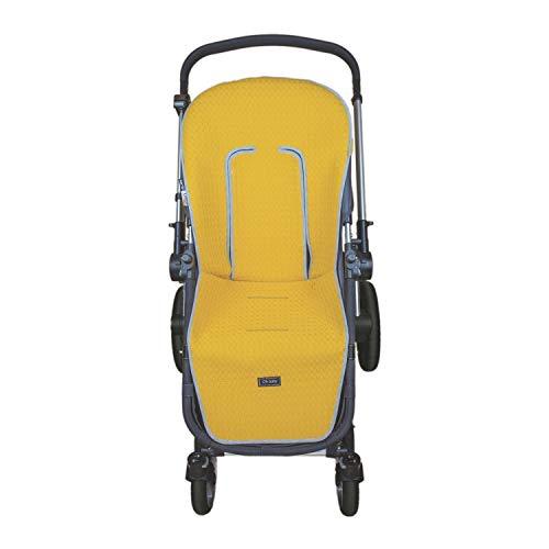 Colchoneta silla hamaca rígida Rosy Fuentes en amarillo