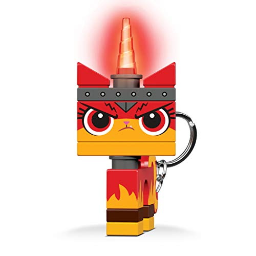 IQ KE147 The Lego Movie 2 Angry Kitty Minifigure LED Key Light Keychain for Boys Girls Kids Adults