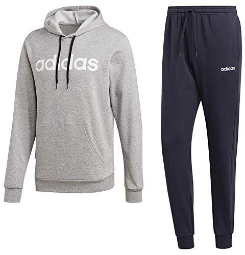 adidas Hooded Tracksuit Cotton Traje de baño, Hombre, Negro/Negro/Actgol, Medium