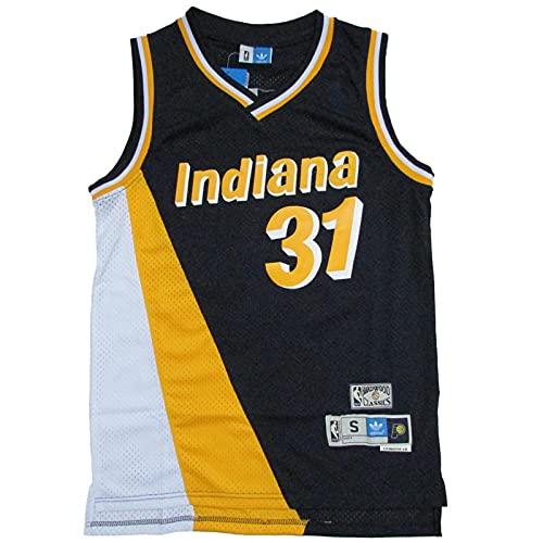 KKSY Camisetas de Hombre Reggie Miller # 33 Pacers Camisetas de Baloncesto Chaleco Transpirable Retro,B,M