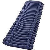 Almohadilla de dormir inflable ultraligera para acampar – Esterilla con bomba de pie incorporada, colchón de aire compacto ligero, las mejores almohadillas para dormir para mochilero