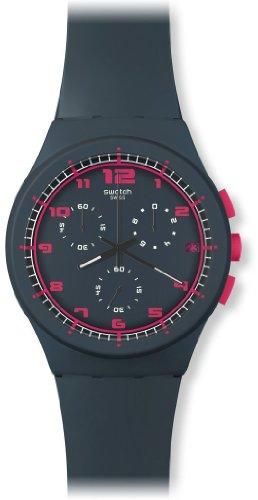 Swatch SUSA400 - Reloj cronógrafo de cuarzo unisex con correa de silicona, color gris