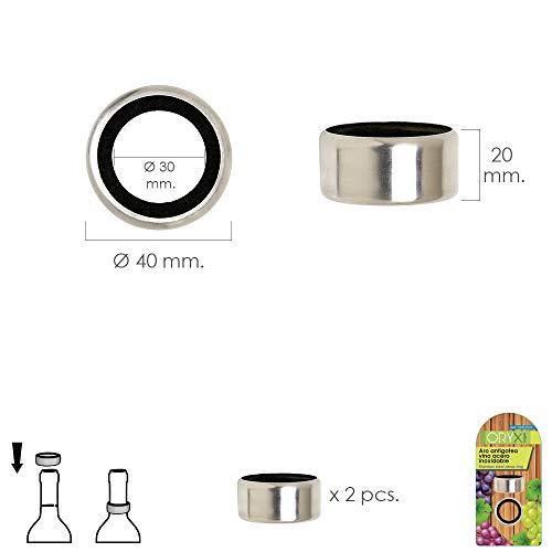 ORYX 5057025 Anti-Tropf-Ring, Edelstahl, 2 Stück, silberfarben