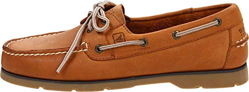Sperry Mens Leeward 2-Eye Boat Shoe, Sahara, 10