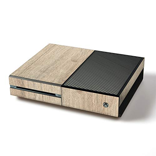 atFoliX Skin kompatibel mit Microsoft Xbox One, Designfolie Sticker (FX-Wood-Bleached-Oak), Holz-Struktur / Holz-Folie