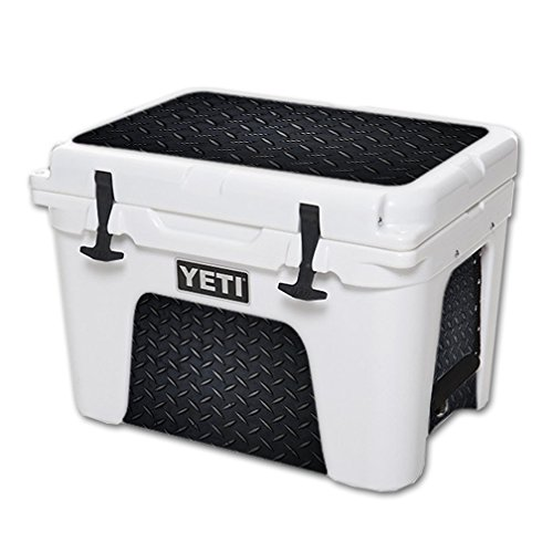 MightySkins (Cooler Not Included) Skin Compatible with YETI Tundra 35 qt Cooler wrap Cover Sticker Skins Black Diamond Plate