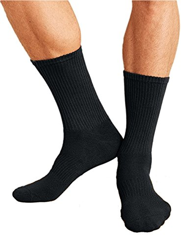 Gildan Accessories Platinum Crew Socks GP751 -BLACK OS