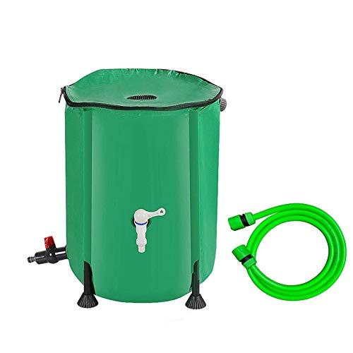 Seau de stockage d'eau pliable de grande capacité avec couvercle et robinet, Boîte de collecte d'eau de pluie portable anti-UV avec tuyau d'arrosage, le jardin / bâtiment industriel / automobile