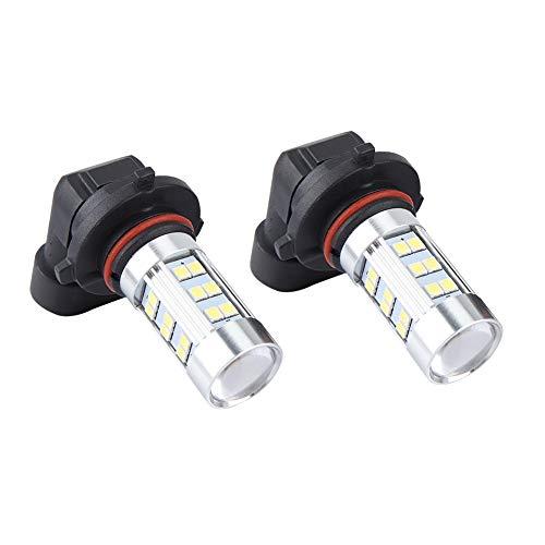 Bombillas LED para faros delanteros 2 uds 21W 860LM 27SMD Kit de bombillas LED para faros delanteros de coche Lámpara antiniebla Bombilla de luz diurna 9006