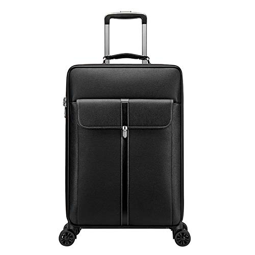 Adlereyire Trolley Suitcase Lightweight Durable Carry On Cabin Hand Luggage Set, Travel Bag with 4 Wheels (Color : Black, Size : 37 * 21 * 57cm)