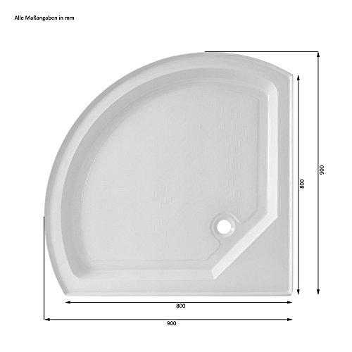 Home Deluxe Black Pearl 90×90 cm Duschtempel, inkl. Dampfsauna und komplettem Zubehör - 7