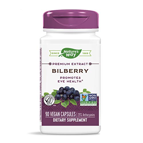 Nature's Way Bilberry Capsules, 90 Count