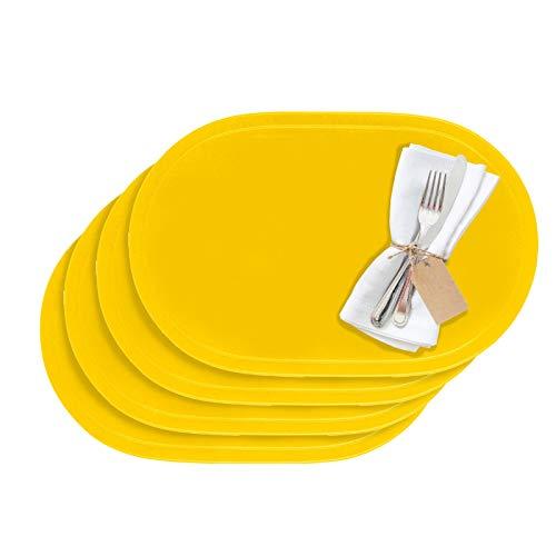 Westmark Tischsets/Platzsets, 4 Stück, 45,5 x 29 cm, Vinyl, Gelb, Saleen Edition: Fun