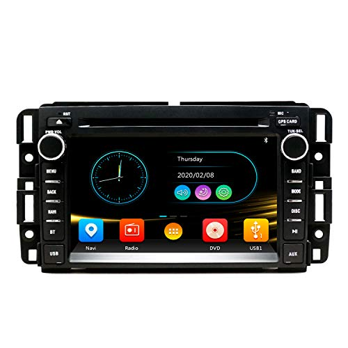 SWTNVIN Car Stereo DVD Player for GMC Sierra Yukon Chevrolet Buick Chevy Silverado Double Din 7 inch Multimedia Radio Navi Support WiFi BT Steering Wheel