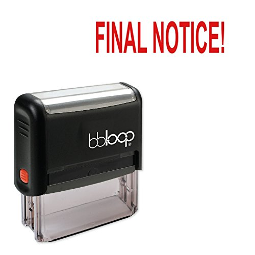 """""""Final Notice!"""" Self-Inking Rubber-Stamp"""