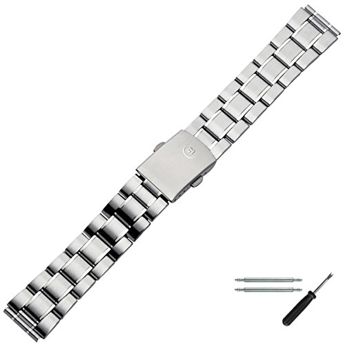 MARBURGER Uhrenarmband 18mm Edelstahl Silber - Werkzeug Montage Set 87101000020