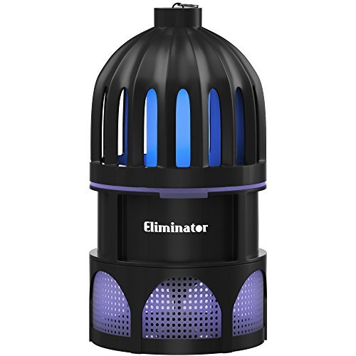 Eliminator Indoor Mosquito Fan Trap Child Safe Non-Toxic UV Light System Attracts, Traps and Kills Flying Insects