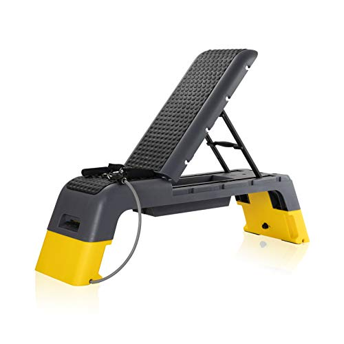 ER KANG Adjustable Fitness Deck - Versatile Fitness Station, Weight Bench, Stepper, and Plyometrics Box for Cardio Workouts and Strength Training