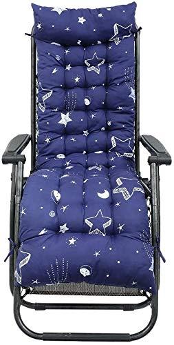 Topstylehouse 1 cojín reclinable para tumbona, cojín de algodón suave para el sofá, cojín para el exterior, respaldo alto, cómodo y antideslizante lavable, fácil de cuidar (Meteoro, 53 x 170 cm)