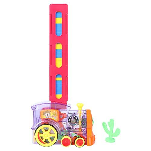 STOBOK Domino Zug Spielzeug Automatisches Bauen und Stapeln Domino Blöcke Spielzeug Kreative Geschenke Spielen Spielzeug Spiel für Kinder Kleinkinder 120pcs Dominosteine Stil 2