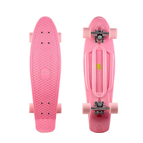DINBIN Complete Highly Flexible Plastic Cruiser Nickel Board 27 Inch Skateboards for Teens or Professional with High Rebound PU Wheels