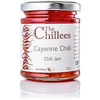 The Chillees Mermelada de pimientos de Cayena 180g Producto natural y sin conservadores Ideal para los platillos que llevan queso Elaborada a fuego lento para que conserve los aromas