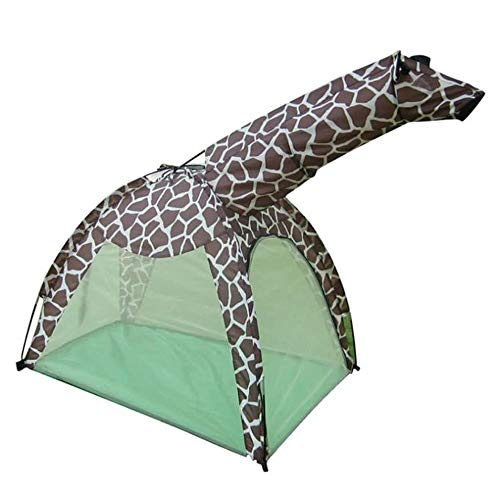 SHENAISHIREN Outdoor Play Tent House,Kids Animal Zebra Giraffe Tent, Cartoon Animal Tent (Color : B)