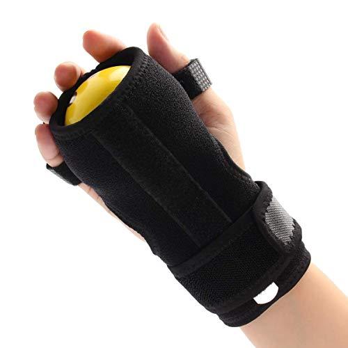 Bola anti-espasticidad, ortesis de la muñeca de dedos Funcional de tapa de tapa de la muñeca de la mano de la mano para el corrector de postura para el deterioro de los dedos, rígido, agarre el entren
