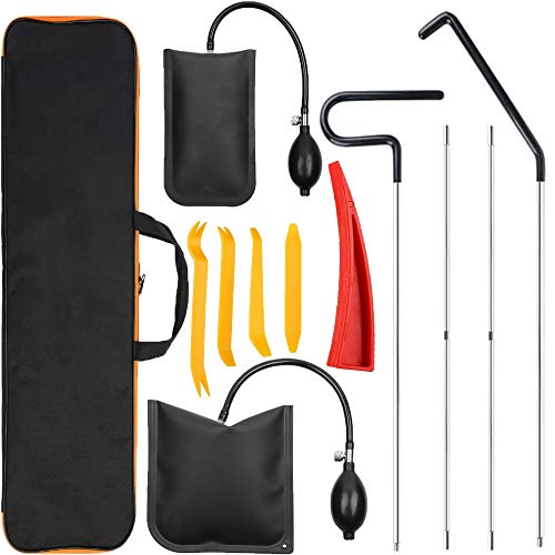Anyyion Professional Car Tool Kit ,Easy Entry Long Reach Grabber, Air Wedge, Non Marring Wedge and Tool Bag, (Dark Black)