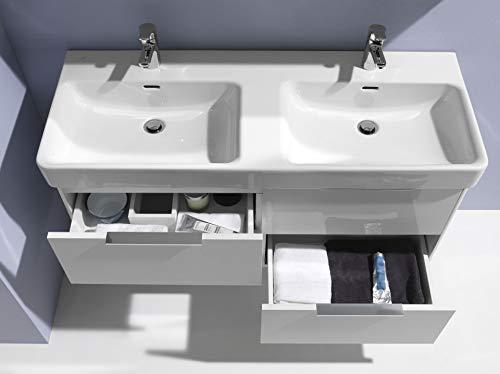 Laufen Doppel-Waschtisch PRO S unterbaufähig 1300x460 weiß, 8149680001041