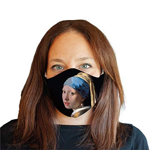 My Custom Style Mascherina Sartoriale #Arte-Ragazza, Vermeer# Baby 7-9 Anni