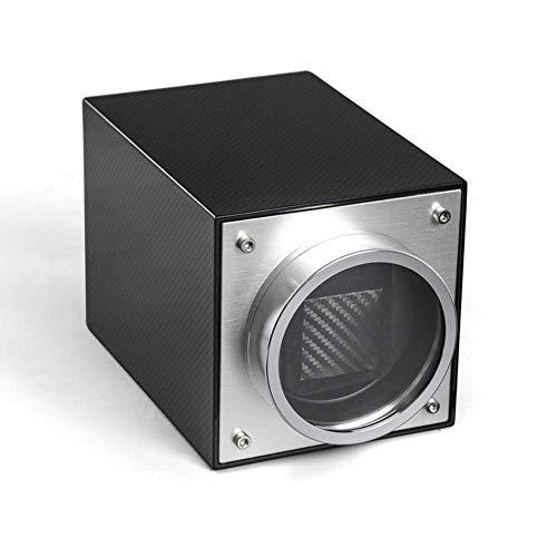 FFAN Caja de Relojes de Fibra de Carbono con enrollador de Reloj único automático 4 Modos de rotación - Negro Good Life