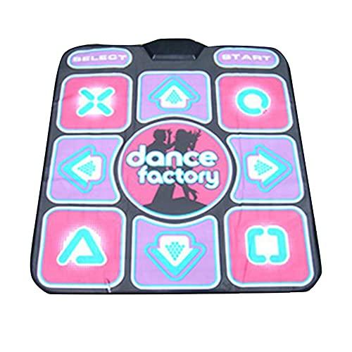 BANGHA Alfombra De Baile USB Antideslizante Beat Dancing Step Pad Yoga Mat Video Party Game PC Wireless Dance Pad Video Party Game Fun Mat Single Dance Pad Dance Pad
