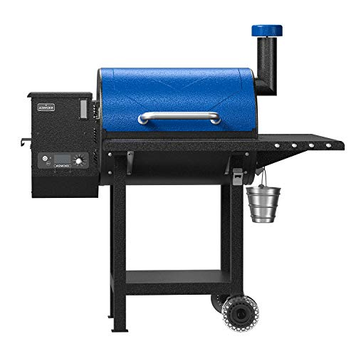 ASMOKE Wood Pellet Grill and Smoker Kit w/40Lbs 100% Pure Apple Wood Pellets, 700 Cooking Area 8 in 1 BBQ Grill Set, Advanced Wood-fired Technology, Temperature Range 180℉ to 500℉, Blue