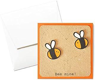 Bee mine - festa degli innamorati - innamorati - biglietto d'auguri (formato 12 x 12 cm) - vuoto all'interno, ideale per i...