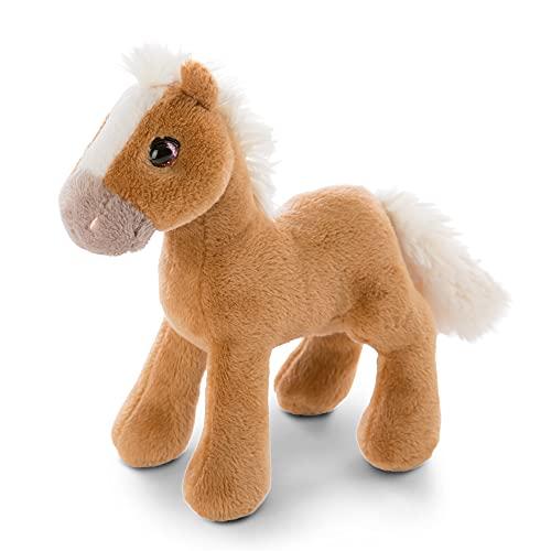 NICI Lorenzo cavallo giocattolo 16 cm in piedi - Morbido cavallino pony marrone imbottito per bambine, bambini e neonati - Peluche cavalli per il gioco e le coccole