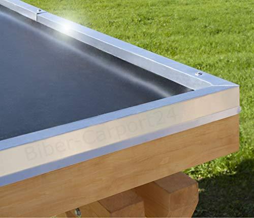 7,62m Breite EPDM-Folie 1,52 mm für Carport, Garage, Vordächer oder Pergola; Preis je m²