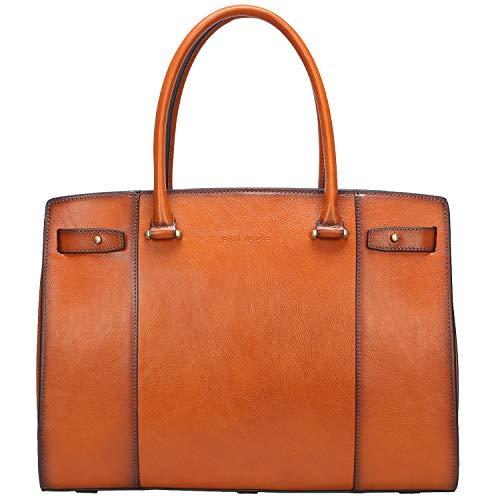 Banuce Vintage Full Grain Italian Leather Briefcase for Women Handbag 13 Laptop
