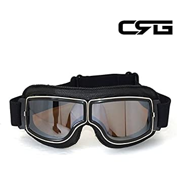 CRG Sports Vintage Aviator Pilot Style Motorcycle Cruiser Scooter Goggle T03