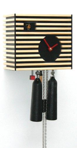 Rombach & Haas Moderne Kuckucksuhr Klassik im Raum schwarz 8-Tagewerk 20 cm
