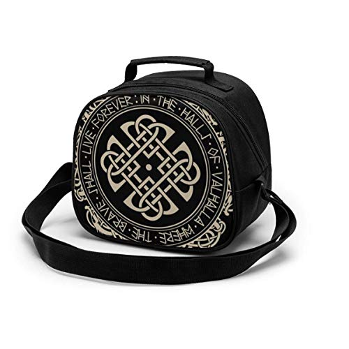 Nordic Old Scandinavian Dragon Vintage Celtic Lunch Box Bag Portable Moisture-proof Bags for Kids Students Workers