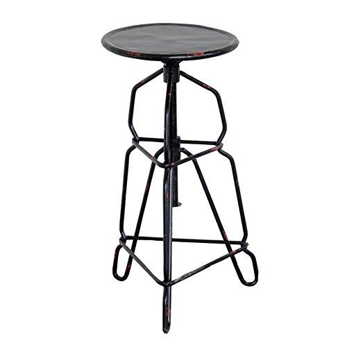 ZHyizi Hoge krukken, Bar stoelen, Ergonomie Loft Industriële Amerikaanse Country Stijl Rood Metaal Retro Verstelbare Hoogte Iron Art Tuinstoelen Huishoudelijke Meubels Luxe Comfortabel